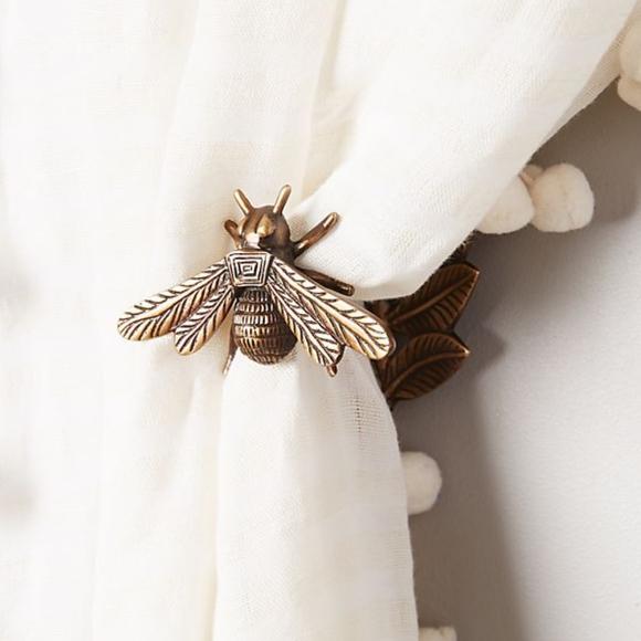 Anthropologie Other - Anthropologie Queen Bee Brass Curtain Tieback
